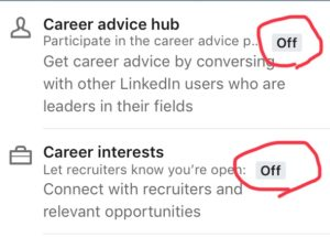 LinkedIn Career interest
